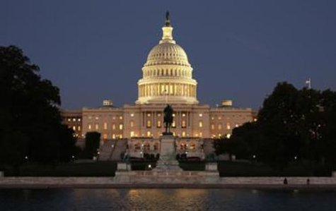 The U.S. Capitol at night (Reuters)