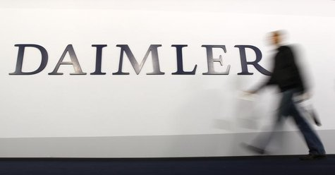 A shareholder arrives to a Daimler AG annual shareholder meeting in Berlin, April 4, 2012. REUTERS/Fabrizio Bensch