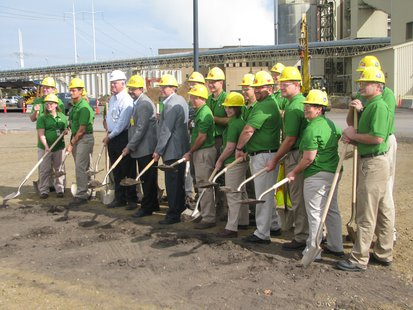Groundbreaking ceremony at WPS Weston 3 generating facility for their ReACT pollution control upgrade.  10/3/13