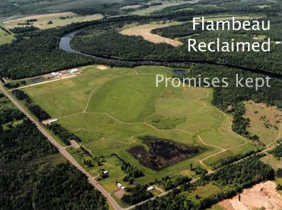 Aerial view of reclaimed Flambeau Mine, Ladysmith, Wisconsin.  Photo Credit: Flambeau Reclaimed website