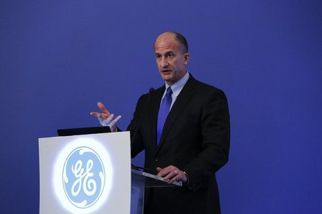 Vice Chairman of GE and CEO of GE's Global Growth and Operations John G. Rice speaks to reporters during a news conference in Mumbai May 17,