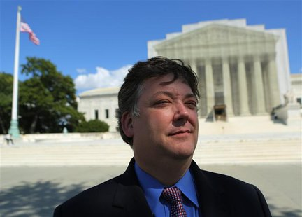 Shaun McCutcheon is shown in front of the United States Supreme Court in Washington, D.C. on September 13, 2013.REUTERS/Gary Cameron