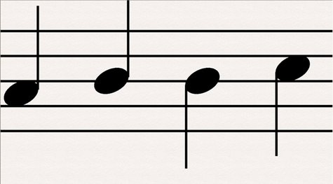 Musical note stems (Photo by: JZCL/Creative Commons).