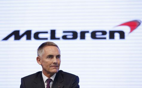 McLaren Group Limited CEO Martin Whitmarsh attends a joint news conference with Honda Motor Co's President and Chief Executive Officer Takan