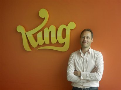 Co-founder and Chief Creative Officer of King.com Sebastian Knutsson pose for media in this undated handout photograph taken and released by