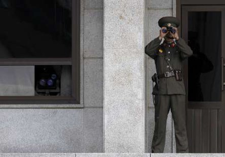 North Korea said today its military would be put on high alert and be ready to launch operations. REUTERS/Jo Yong-Hak (SOUTH KOREA POLITICS MILITARY)