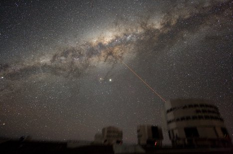 Have you seen me lately?  An image of the Milky Way's Galactic Center in the night sky above Paranal Observatory.  Courtesy Wikipedia