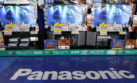 Panasonic's plasma TV sets are displayed at an electronics shop in Tokyo in this October 20, 2011 file photo. REUTERS/Kim Kyung-Hoon/Files