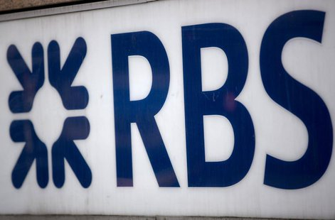 A sign is seen outside a Royal Bank of Scotland building in central London February 28, 2013. REUTERS/Neil Hall