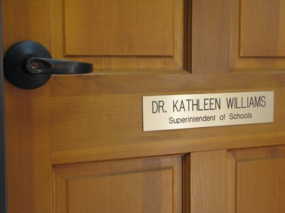 Superintendent Kathleen Williams office