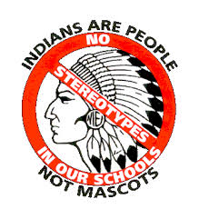 No indian mascots logo