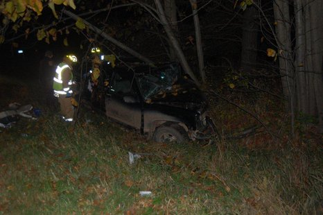 Crash scene north of Withee, WI 10/10/13.  Photo: Clark County Sheriff's Department