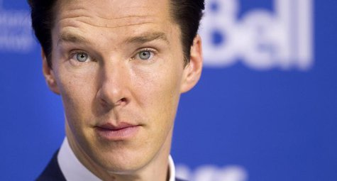 "Actor Benedict Cumberbatch attends a news conference for the film ""The Fifth Estate"" at the 38th Toronto International Film Festival (TIFF)"