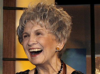 File photo of Canadian writer Alice Munro smiling at the end of the Giller awards ceremony in Toronto in this November 6, 2007.REUTERS/Mike