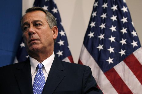 U.S. House Speaker John Boehner (R-OH) is pictured following a House Republican party meeting on Capitol Hill in Washington, October 8, 2013