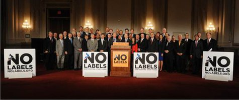 The congressional group No Labels poses for a picture during an event October 10, 2013