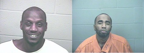39-year-old Stanley Rice (left) and 42-year-old Aquarius Walker (right) are suspects in several crimes in the Kalamazoo area.
