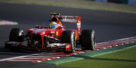 Ferrari Formula One driver Felipe Massa of Brazil drives during the second practice session of the Japanese F1 Grand Prix at the Suzuka circ