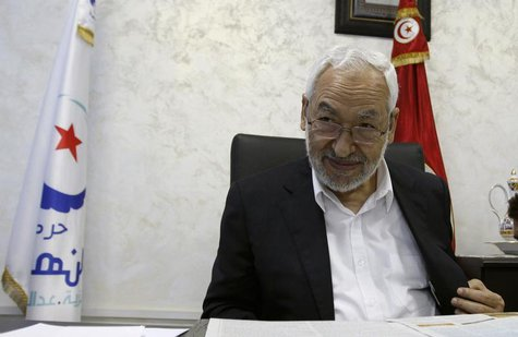 Rached Ghannouchi, leader of the Islamist Ennahda movement, speaks during an intervew with a Reuters journalist in Tunis August 5, 2013. REU