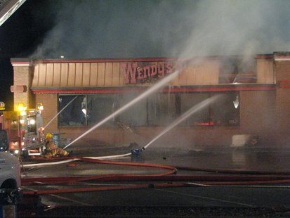 Fire at Wendy's in Rib Mountain