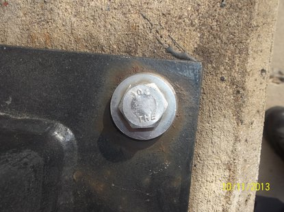 This is the type of stainless steel bolt being stolen from Wausau bridge pedestrian rails.  Photo: Wausau Police
