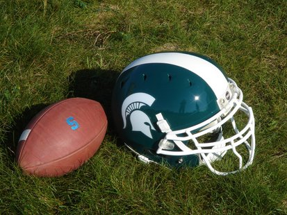 2010 Michigan State Spartans Football Helmet.