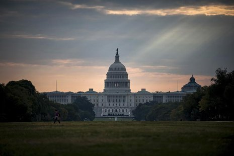 The U.S. Capitol building is seen on Tuesday morning after the federal government was shutdown when the House and Senate failed to pass a bu
