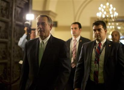 U.S. House Speaker John Boehner (R-OH) arrives on Capitol Hill in Washington October 11, 2013. REUTERS-Jason Reed