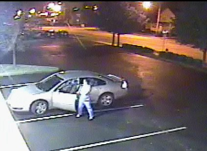 College Ave. hit and run suspect caught on video surveillance in nearby parking lot on 10-9-13