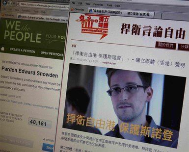 "The four laptop computers that former U.S. spy contractor Edward Snowden carried with him to Hong Kong and Moscow were a ""diversion.""  (Reuters file)"