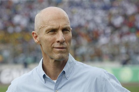 Egypt team coach Bob Bradley stands during their 2014 World Cup qualifying soccer match against Ghana at the Baba Yara Sports Stadium in Kum
