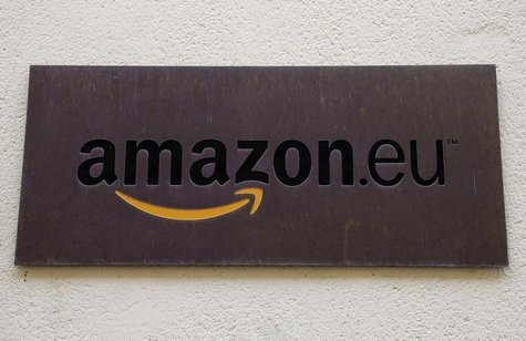 The logo of Amazon Europe Holding Technologies is seen at its entrance in Luxembourg in this picture taken on November 20, 2012. REUTERS/Fra