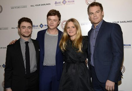 "Cast members Daniel Radcliffe (L-R), Dane DeHaan, Jennifer Jason Leigh and Michael C. Hall attend the film premiere of ""Kill Your Darlings"""
