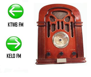 "Country music ""KTWB-FM"" and Adult Hits ""Lite 92.5 KELO-FM"" are switching places on the radio dial. (MB Image)"