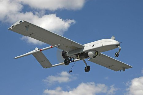 "An unarmed U.S. ""Shadow"" drone is pictured in flight in this undated photograph, released on January 5, 2011. REUTERS/AAI Corporation/Handou"