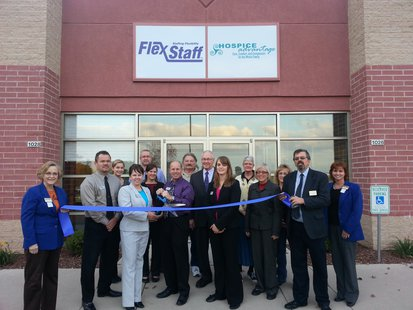 A ribbon cutting ceremony held for the Flex Staff office location in Sheboygan.