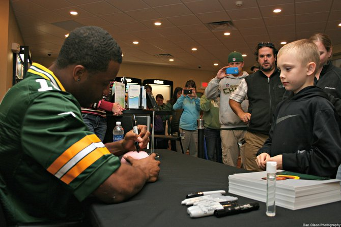 Randall Cobb at Cellcom in Sheboygan