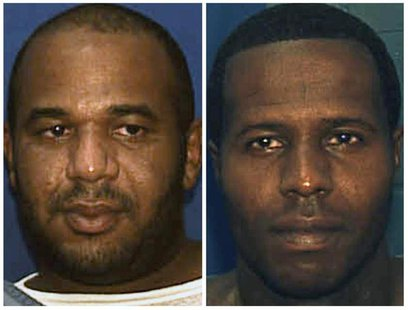 Escaped convicts Joseph Ivan Jenkins (L) and Charles Walker are shown in this combination of undated booking photos provided by the Florida