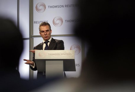 Bank of England policymaker Ben Broadbent speaks at Thomson Reuters' London headquarters, in the Canary Wharf business district in London Se