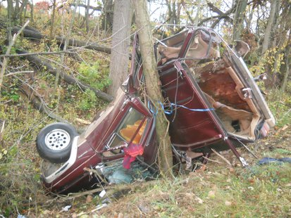 Photo of the accident scene provided by the Van Buren County Sheriffs Department.