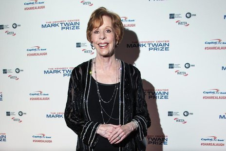 Comedian and actress Carol Burnett arrives on the red carpet before being presented the 2013 Mark Twain Prize for American Humor at the Kenn
