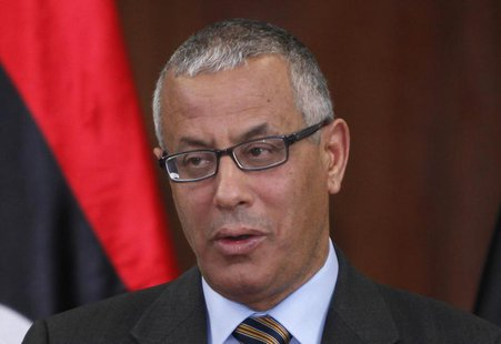 Libya's Prime Minister Ali Zeidan speaks during a news conference at the headquarters of the Prime Minister's Office in Tripoli January 3, 2