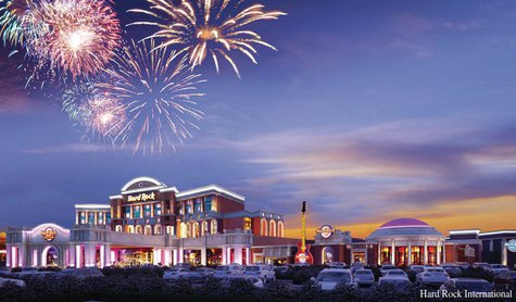A concept design for the proposed casino in Kenosha. (Photo by: Hard Rock International).