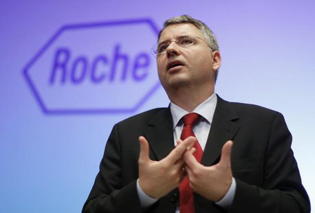 Roche CEO Severin Schwan speaks during the annual news conference in Basel January 30, 2013. REUTERS/Michael Buholzer