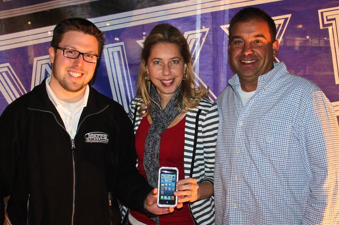 Here's Matt from Matt's DJ Service/Nehring Limo with Marsh of Appleton our winner of the Bon Jovi Winning Weekend - tickets for the show and a new iPod with 101 Bon Jovi songs!