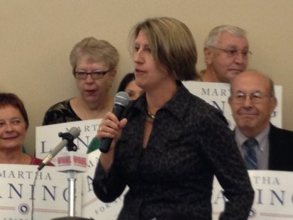 Martha Laning announces her candidacy for State Senate.
