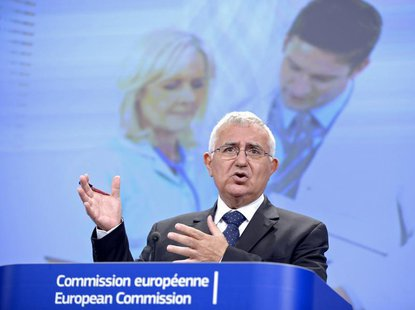 John Dalli, European Commissioner for Health and Consumer Policy, speaks at a news conference at the EC headquarters in Brussels July 17, 20