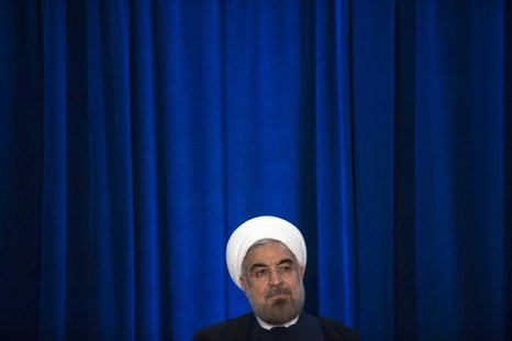 Iran's President Hassan Rouhani participates in an event hosted by the Council on Foreign Relations and the Asia Society in New York, Septem