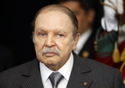 Algeria's President Abdelaziz Bouteflika is seen at the presidential palace in Algiers December 11, 2011. REUTERS/Louafi Larbi