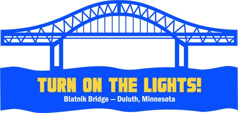 Blatnik Bridge lighting logo